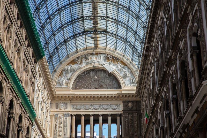 Galleria Umberto io una galleria di compera pubblica a Napoli immagine stock libera da diritti