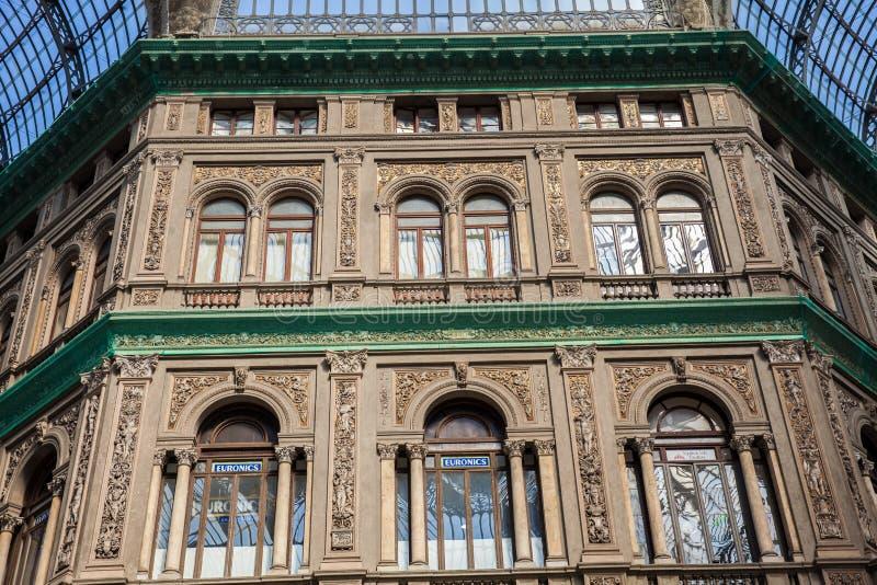 Galleria Umberto io una galleria di compera pubblica a Napoli immagini stock libere da diritti