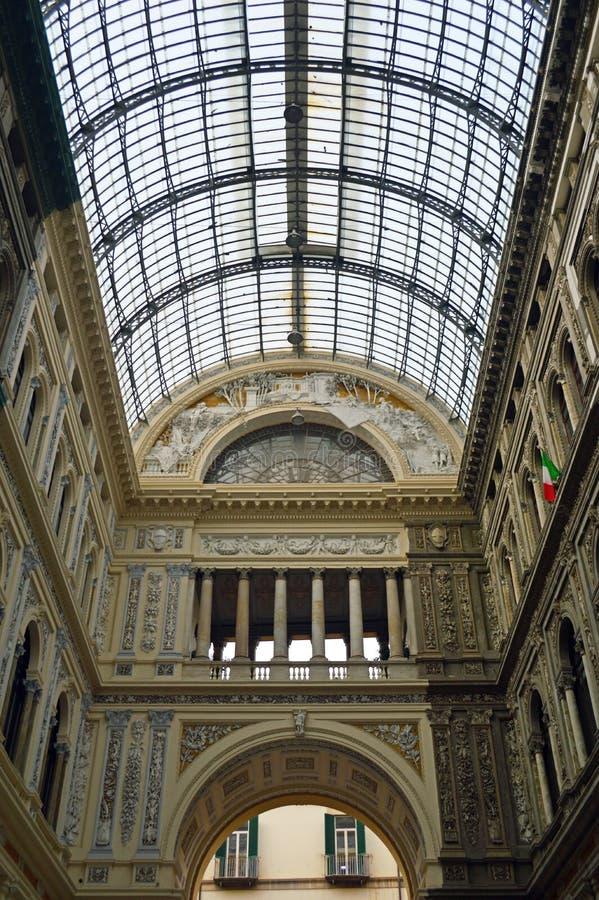 Galleria Umberto Ja Naples fotografia royalty free