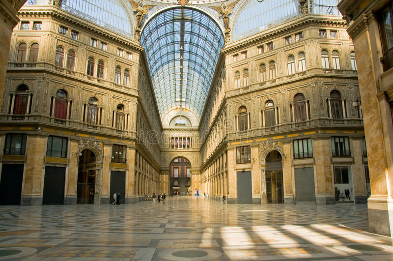 Galleria Umberto mim imagens de stock royalty free