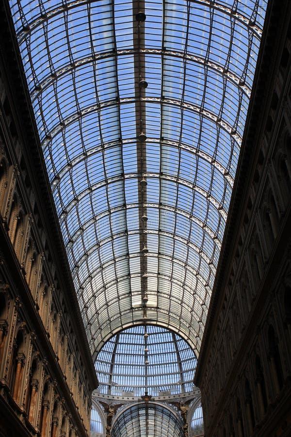 Galleria Umberto, Napels stock foto