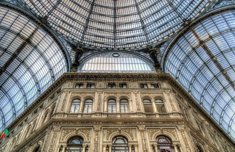 Galleria Umberto, Naples, Italien royaltyfri bild