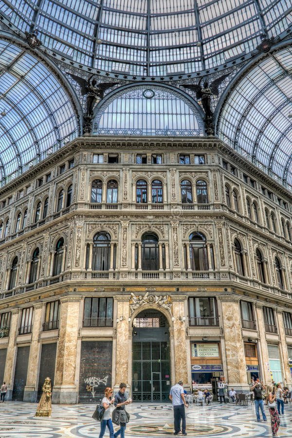Shopping gallery and cafe, Naples, Italy royalty free stock image