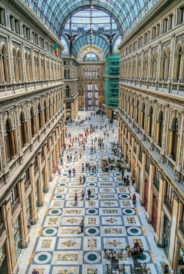 Galleria Umberto, Neapel, Italien stockfoto