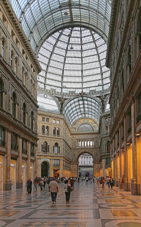 Galleria Umberto Neapel stockfotografie
