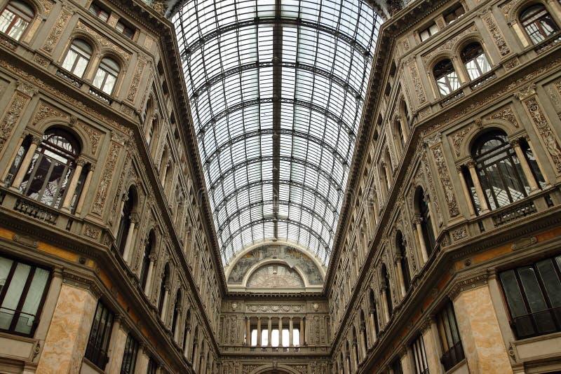 Galleria Umberto Primo i Naples royaltyfri foto