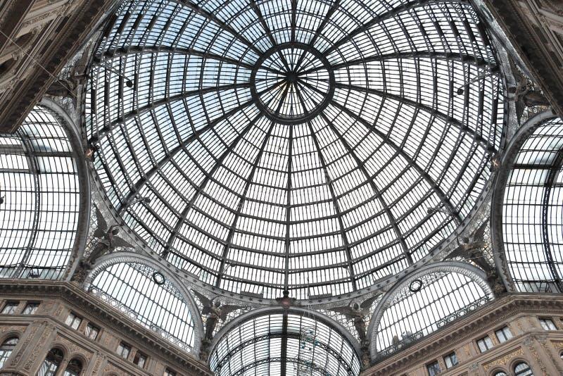 Galleria Umberto Primo i Naples fotografering för bildbyråer