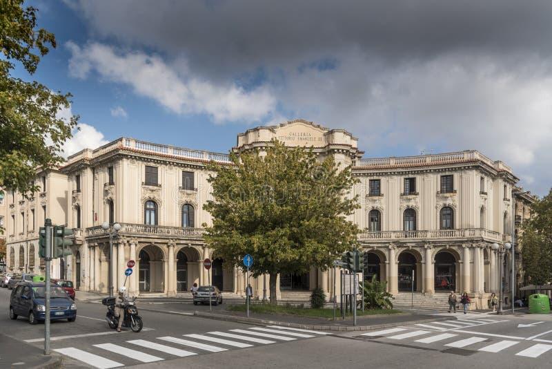 Galleria Vittorio Emanuele ΙΙΙ Μεσσήνη Ιταλία στοκ φωτογραφία με δικαίωμα ελεύθερης χρήσης