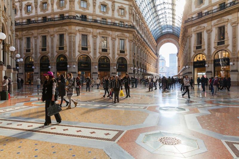 Galleria Vittorio Emanuele ΙΙ άποψη στοκ εικόνες