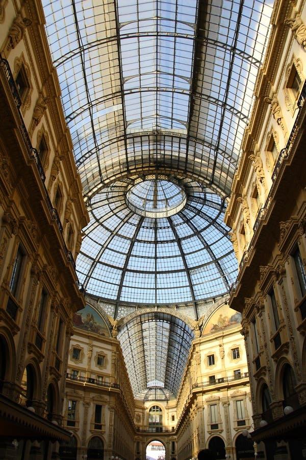 Galleria Vittorio Emanuele ΙΙ αίθουσα στοκ φωτογραφία