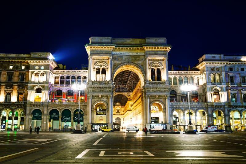 Galleria Vittorio Emanuele ΙΙ είσοδος λεωφόρων αγορών στο Μιλάνο, Ι στοκ εικόνες με δικαίωμα ελεύθερης χρήσης