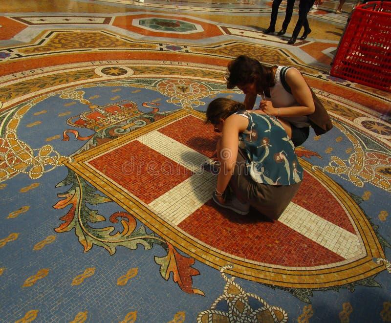 Galleria Vittorio Emanuele ΙΙ, λεπτομέρεια στοκ εικόνες με δικαίωμα ελεύθερης χρήσης