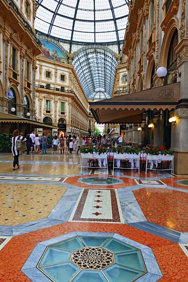 Galleria Vittorio Emanuele ΙΙ Μιλάνο Ιταλία στοκ φωτογραφίες