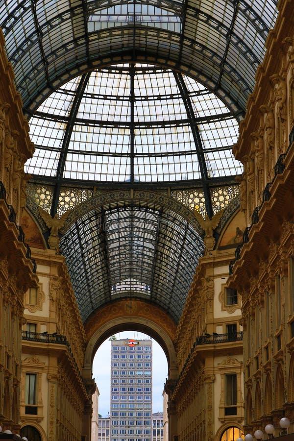 Galleria Vittorio Emanuele ΙΙ Μιλάνο Ιταλία στοκ εικόνες