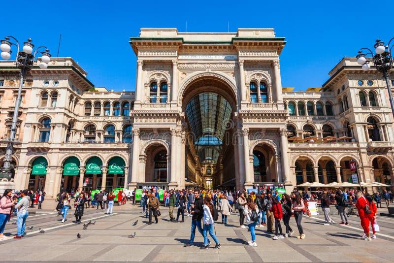 Galleria Vittorio Emanuele ΙΙ, Μιλάνο στοκ φωτογραφίες με δικαίωμα ελεύθερης χρήσης