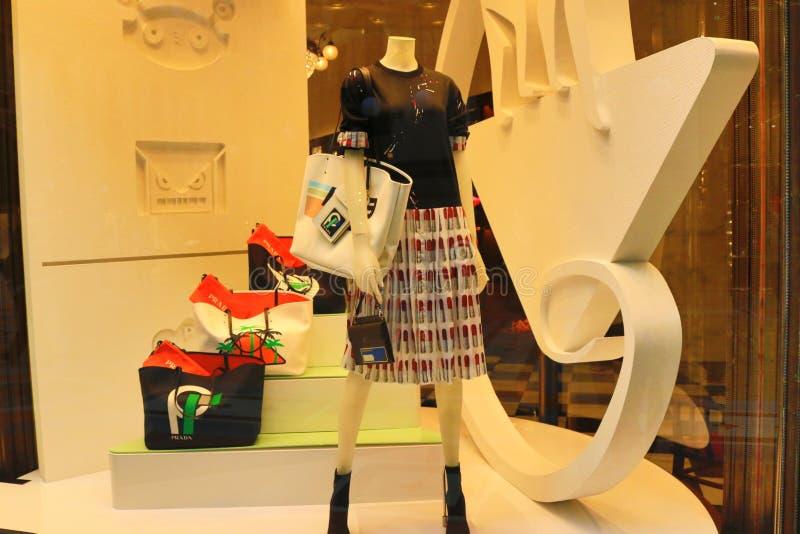 Galleria Vittorio Emanuele ΙΙ προθήκη Μιλάνο ενδύματος πολυτέλειας στοκ φωτογραφίες με δικαίωμα ελεύθερης χρήσης