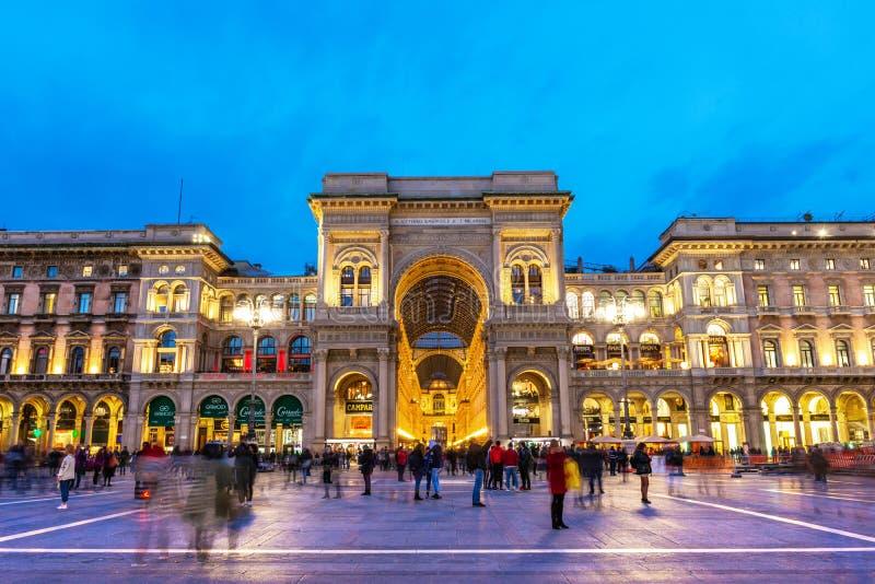 Galleria Vittorio Emanuele ΙΙ στο ηλιοβασίλεμα, Μιλάνο στοκ φωτογραφία με δικαίωμα ελεύθερης χρήσης