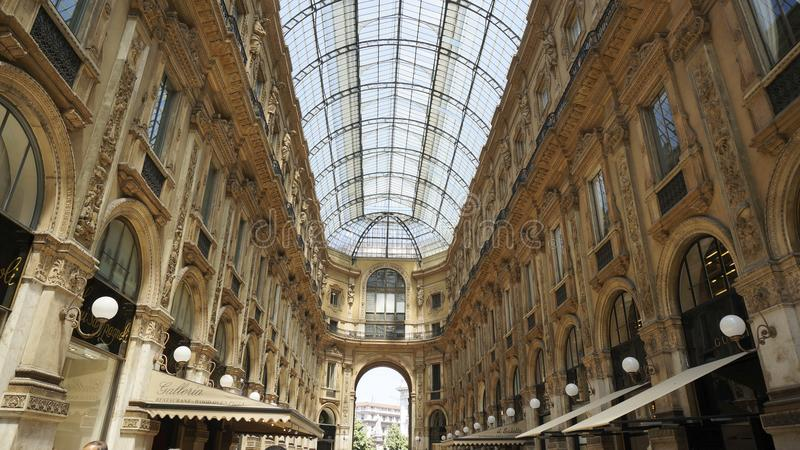 Galleria Vittorio Emanuele ΙΙ, στο Μιλάνο στοκ εικόνες