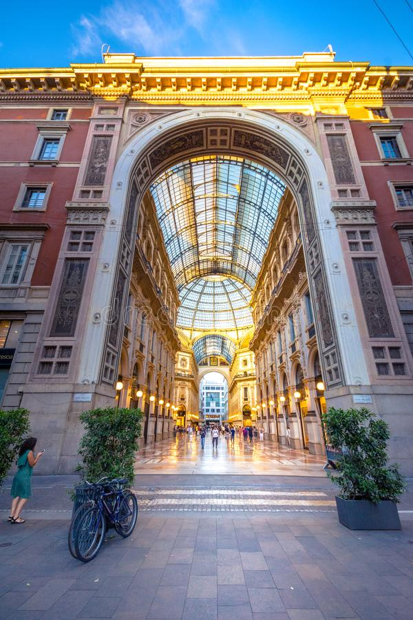 Galleria Vittorio Emanuele ΙΙ στο Μιλάνο στοκ εικόνα