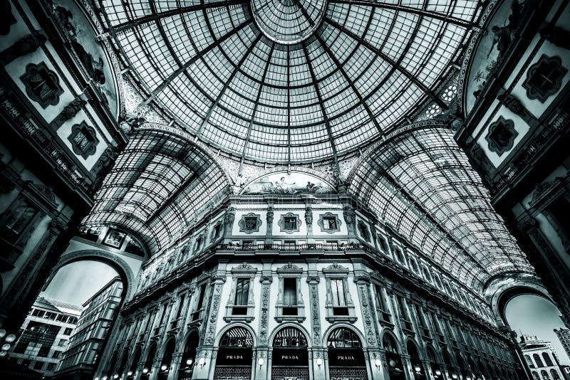 Galleria Vittorio Emanuele ΙΙ στο Μιλάνο στοκ εικόνες με δικαίωμα ελεύθερης χρήσης