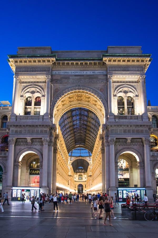 Galleria Vittorio Emanuele ΙΙ στο Μιλάνο στοκ φωτογραφία με δικαίωμα ελεύθερης χρήσης