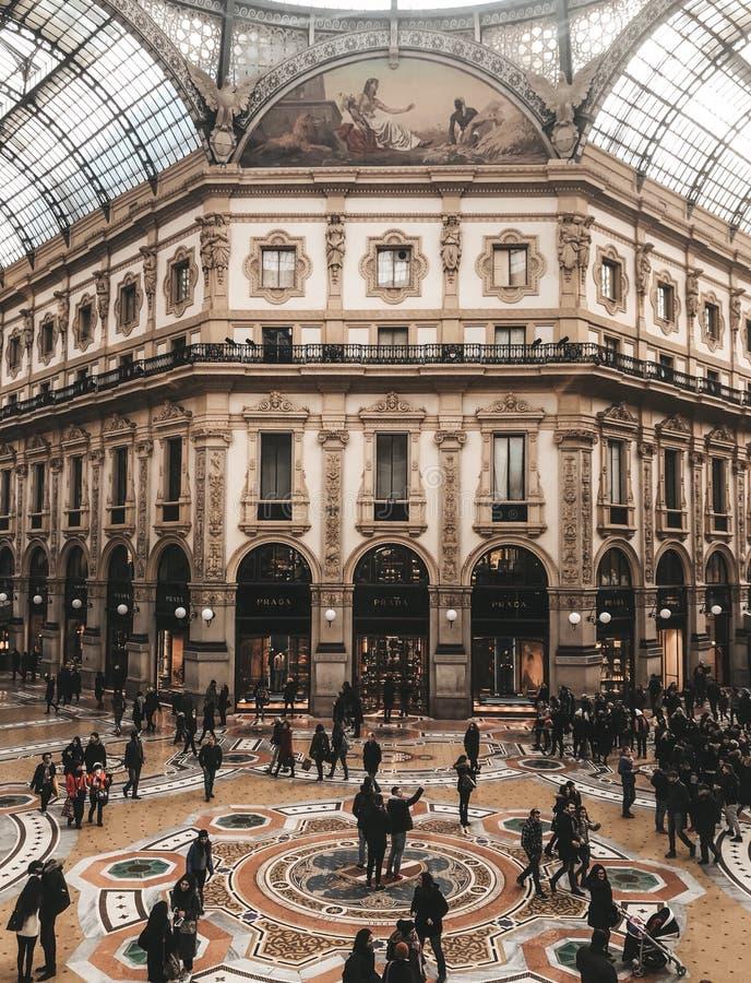 Galleria Vittorio Emanuele ΙΙ στοκ φωτογραφίες