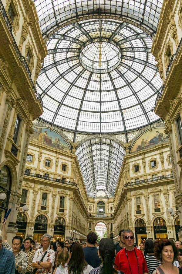Galleria Vittorio Emanuele ΙΙ στοκ εικόνες