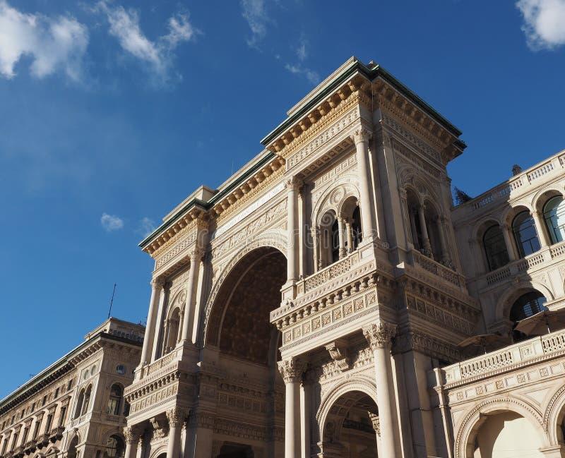 Galleria Vittorio Emanuele ΙΙ arcade στο Μιλάνο στοκ φωτογραφίες