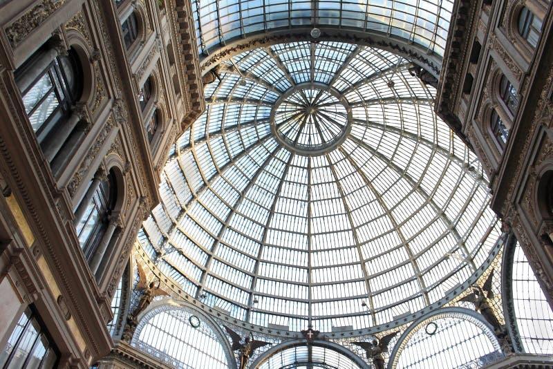 Galleria Vittorio Emanuele στη Νάπολη στοκ εικόνες