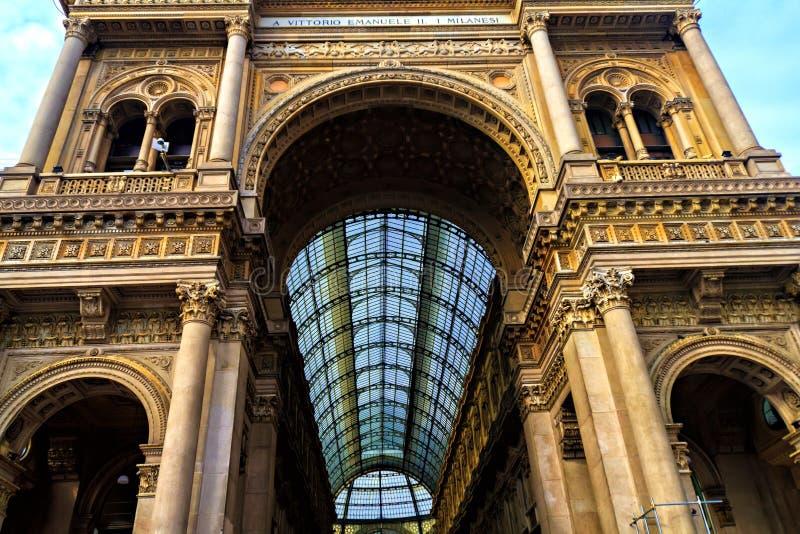 Galleria Vittorio Emanuele στο Μιλάνο στοκ φωτογραφία με δικαίωμα ελεύθερης χρήσης