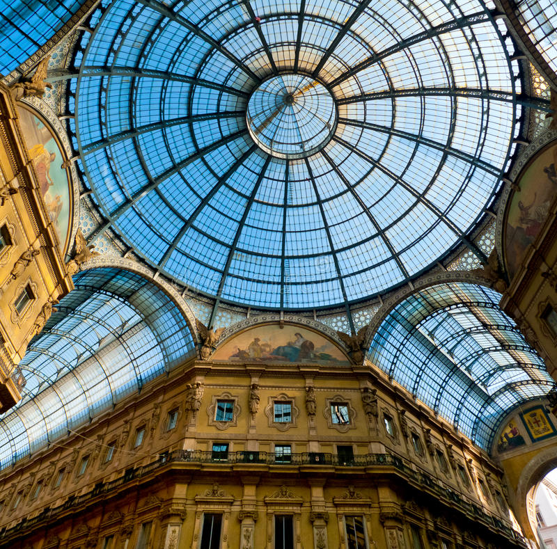 Galleria Vittorio Emanuele стоковые изображения rf