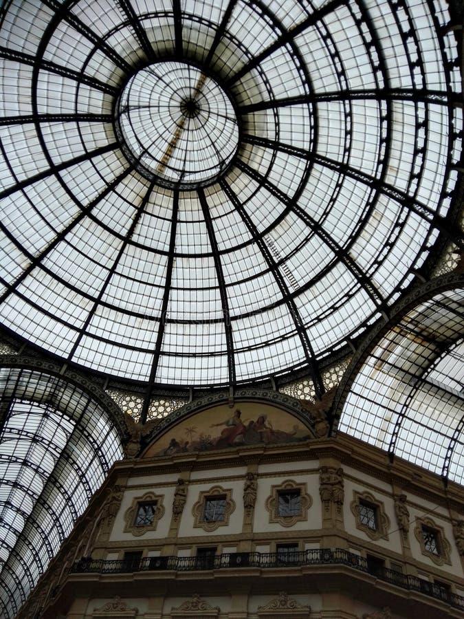 Galleria Vittorio Emanuele di Milano II fotografia stock libera da diritti