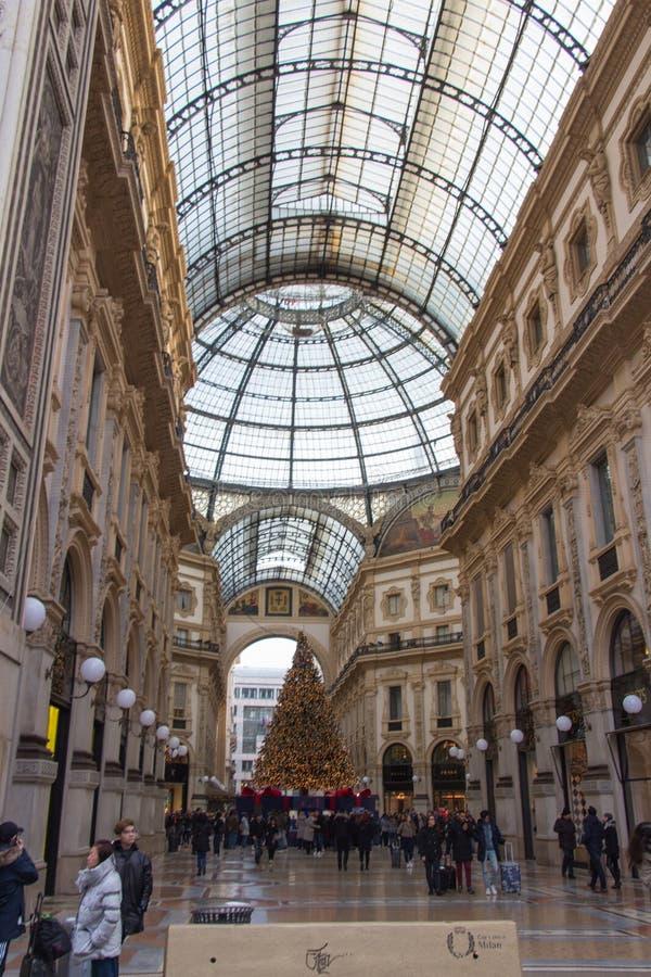 Galleria Vittorio Emanuele II, Милан, Ломбардия, Италия стоковая фотография rf