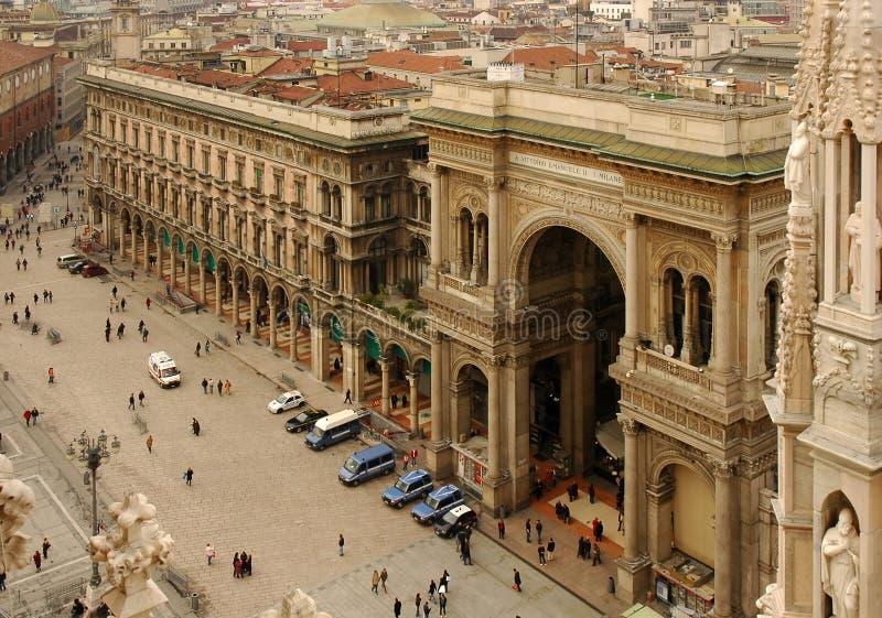 The Galleria Vittorio Emanuele II royalty free stock images