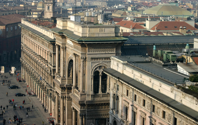 Galleria Vittorio Emanuele II royalty free stock images