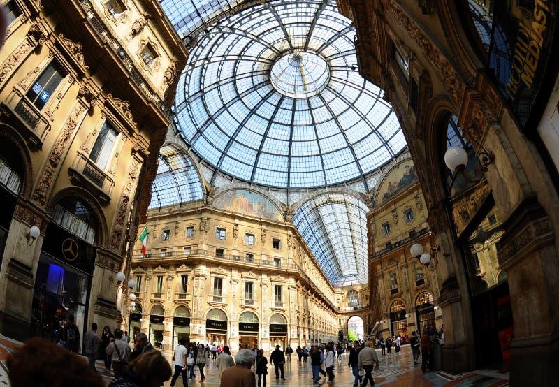 Galleria Vittorio Emanuele II aus dem Arca heraus lizenzfreie stockbilder