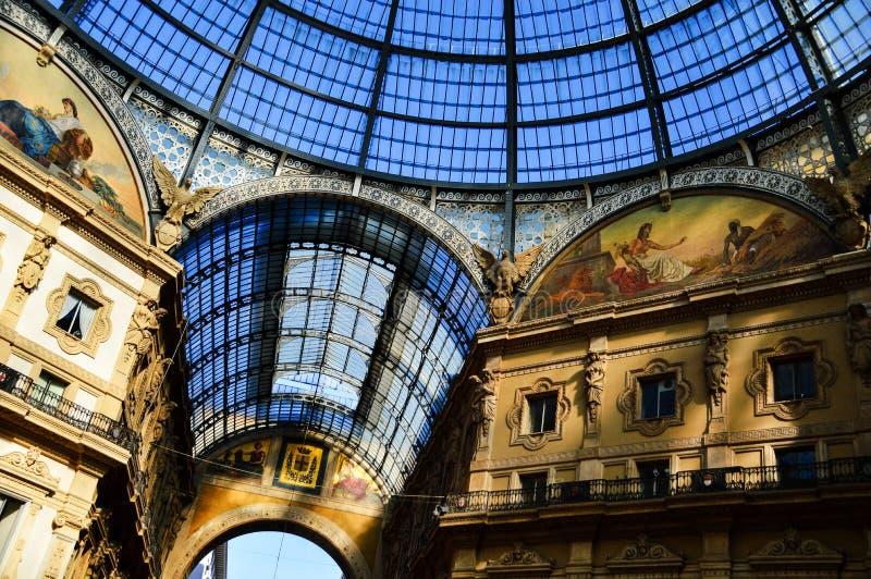 Galleria Vittorio Emanuele II in centraal Milaan, Italië royalty-vrije stock foto's
