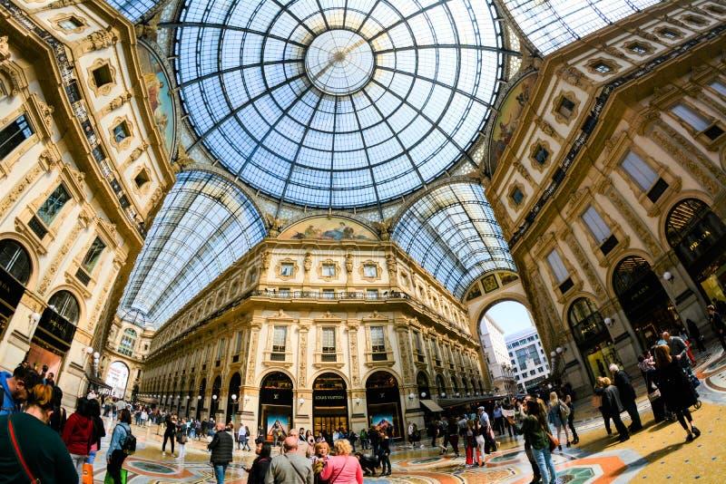 Galleria Vittorio Emanuele II, Mailand, Italien stockfotos