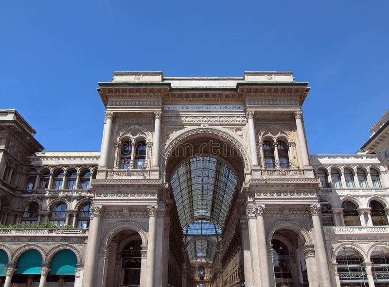 Galleria Vittorio Emanuele II, Milaan stock fotografie