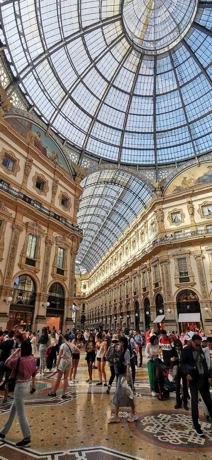 Galleria Vittorio Emanuele II stock foto's