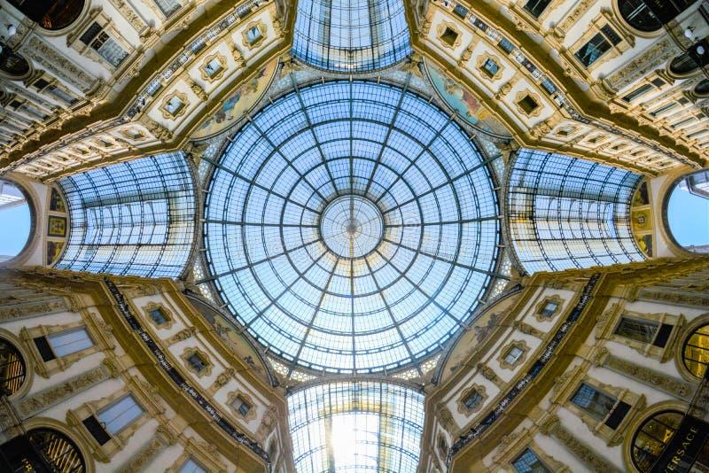 Galleria Vittorio Emanuele II, Milaan, Itali? royalty-vrije stock foto's