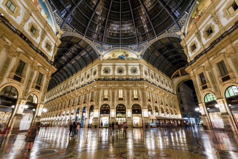 Galleria Vittorio Emanuele II in Milan, Italy stock photos