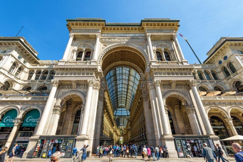 Galleria Vittorio Emanuele II in Milan, Italy royalty free stock photos