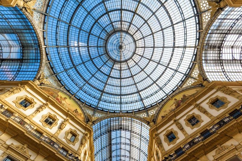 Galleria Vittorio Emanuele II in Milan, Italy royalty free stock photo