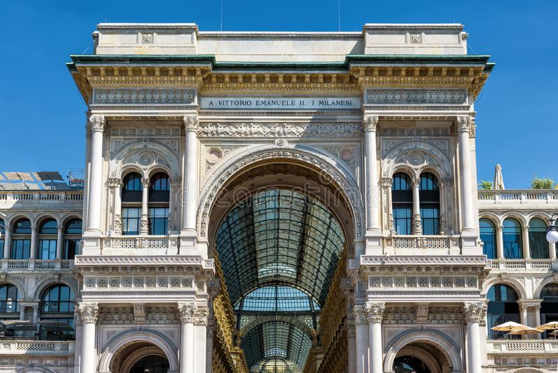 Galleria Vittorio Emanuele II in Milan, Italy. Galleria Vittorio Emanuele II on the Piazza del Duomo Cathedral Square in Milan, Italy. This gallery is one of the royalty free stock images