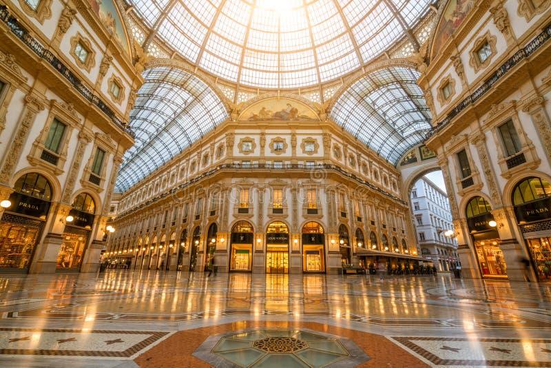 Galleria Vittorio Emanuele II in Milan, Italy royalty free stock image