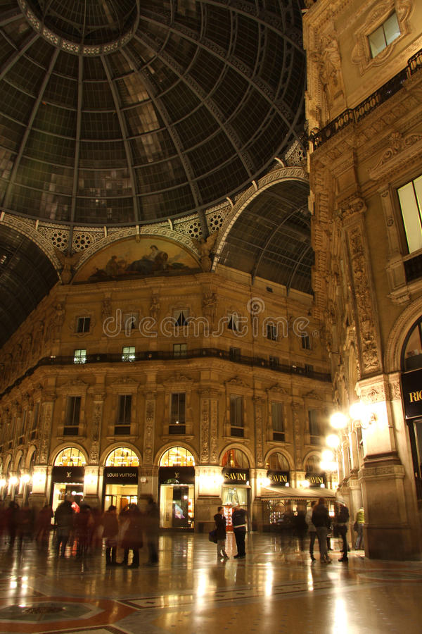 Download Galleria Vittorio Emanuele II In Milan At Night Editorial Photography - Image: 37213977