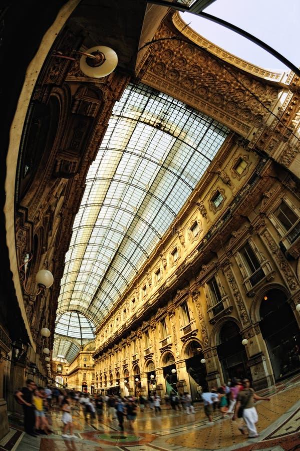 Galleria Vittorio Emanuele II Milano Lombardia Italia immagine stock libera da diritti
