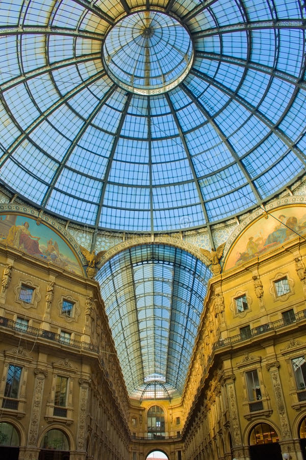 Galleria Vittorio Emanuele, Milão, Italy foto de stock royalty free