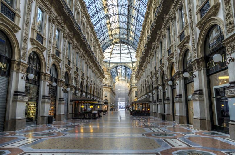 Galleria Vittorio Emanuele, Milão, Italy imagens de stock royalty free